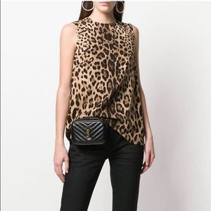 DOLCE & GABBANA Leopard Sleeveless Zip Back Top